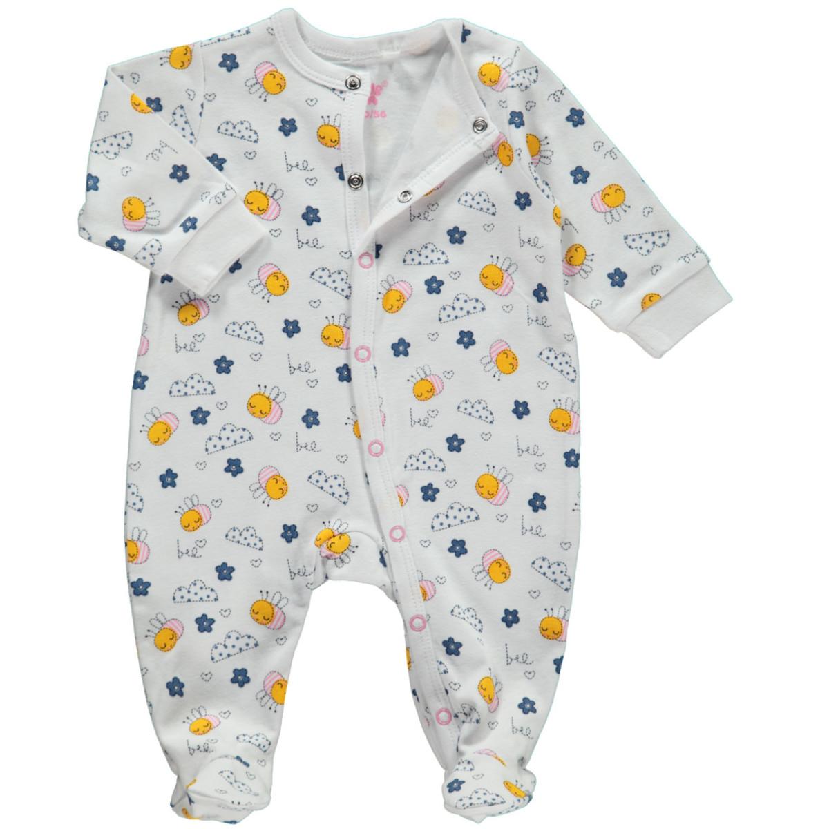 Bild 1 von Baby Mädchen Pyjama mit Füßchen