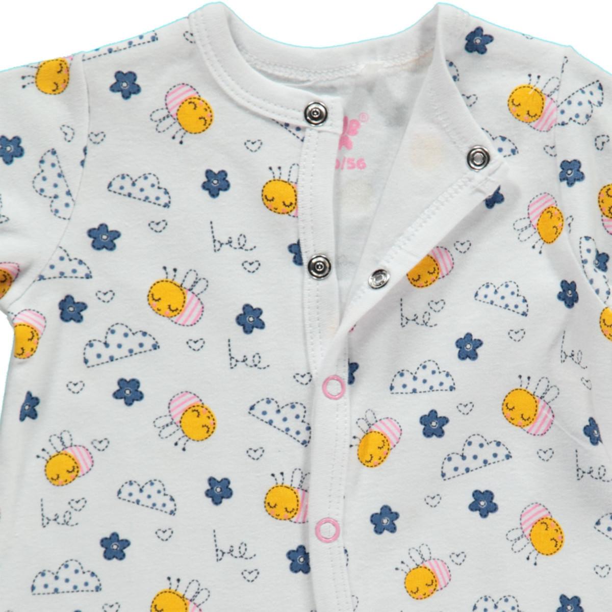 Bild 3 von Baby Mädchen Pyjama mit Füßchen