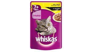 Whiskas® Katzennassfutter 7+ mit Huhn in Sauce Portionsbeutel