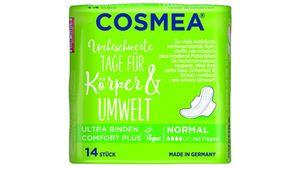 Cosmea® Comfort Plus Ultra Binden, Geruchsschutz, Normal mit Flügeln, 14 Stück