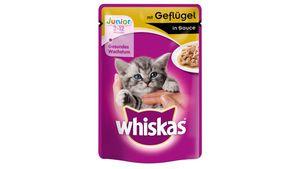 Whiskas® Katzennassfutter Junior mit Geflügel in Sauce Portionsbeutel