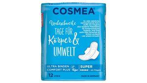 Cosmea® Comfort Plus Ultra Binden, Geruchsschutz, Super mit Flügeln, 12 Stück
