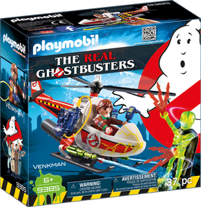 Playmobil 9385 The real Ghostbusters Venkman mit Helikopter