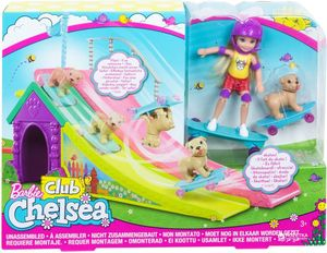 Barbie Chelsea Puppe und Skateboard-Rampe