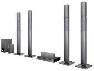 LG LHB655NW 5.1 Heimkinosystem inkl. 3D Blu-ray Player und kabellosen Rücklautsprecher