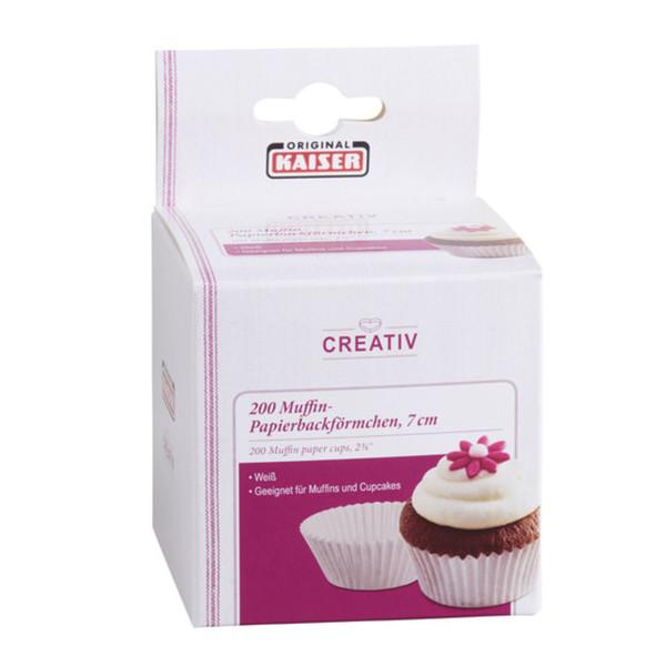 Kaiser Muffin-Papierbackförmchen 200 Stück in Weiß