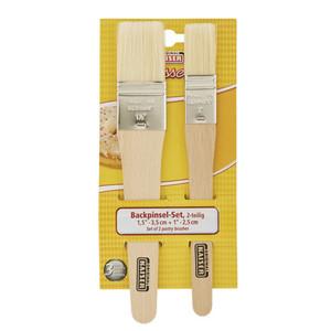 Kaiser Holz Holz-Backpinsel 2 Stück 20,5 x 1,5 cm