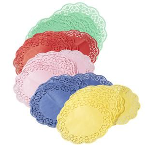 Tortenspitzen 6 Stück in verschiedenen Farben Ø ca. 35 cm