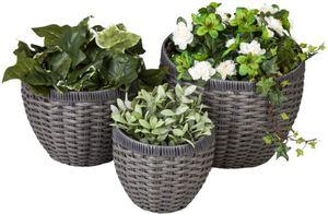 Pflanzengefäß - aus Kunststoff - verschiedene Größen