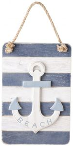 Dekohänger - Anker - aus Holz - 15 x 2 x 22,5 cm