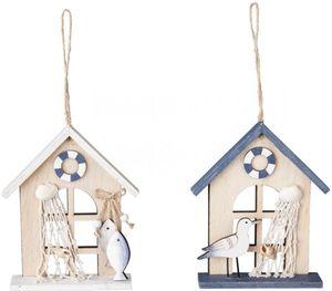 Dekohänger - Haus - aus Holz - 12 x 1,5 x 16 cm - 1 Stück