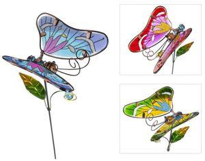 Pflanzenstecker - Schmetterling - aus Metall - 17 x 14 x 64 cm - 1 Stück