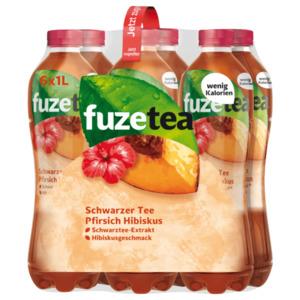 Fuze Tea Schwarzer Tee Pfirsich Hibiskus 6x1l