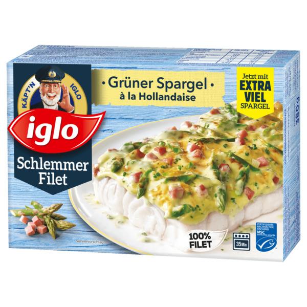 Iglo Schlemmer Filet Grüner Spargel à la Hollandaise 380g