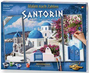 Malen nach Zahlen - Santorin - Meisterklasse Triptychon - Schipper