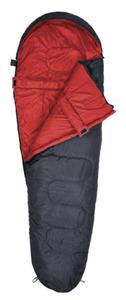 Schlafsack - in anthrazit/rot -  230 x 80 x 50 cm