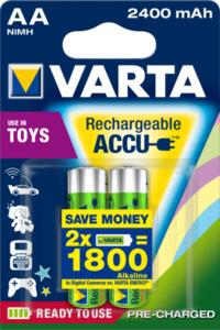Varta AA Toy Accu - 2400mAh, NiMH Akkku, 1,2 V
