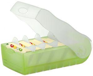 Karteikartenbox CROCO DIN A7 - grün