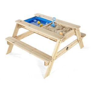 Plum - Holz Picknicktisch für Kinder mit Sandkasten und Wasserbecken - ca. 105 x 89 x 49 cm