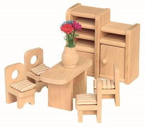 Puppenhaus Möbel - Esszimmer - 6teilig - Holz