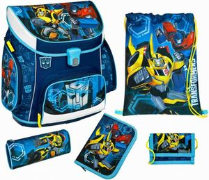 Scooli Schulranzen Set - Transformers - blau - Campus Up - 5-teilig