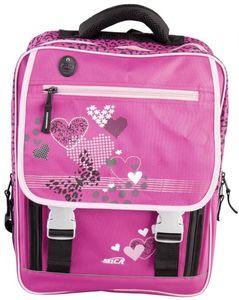 Schul-Rucksack - aus Polyester - 34 x 43 x 16 cm - in pink