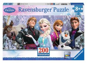 Panorama Puzzle - Arendelle im ewigen Eis - 200 Teile