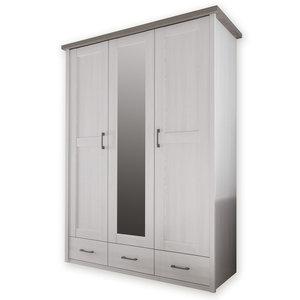 Kleiderschrank LUCA - Pinie-weiß - Trüffel - 148 cm