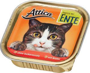 Attica Katzennahrung Pastete mit Ente 100 g