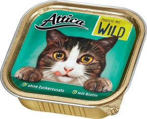 Attica Katzennahrung Pastete mit Wild 100 g