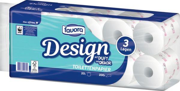 Favora Toilettenpapier, 3-lagig, 20x200 Blatt