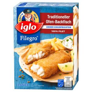 Iglo Filegro Traditioneller Ofen-Backfisch