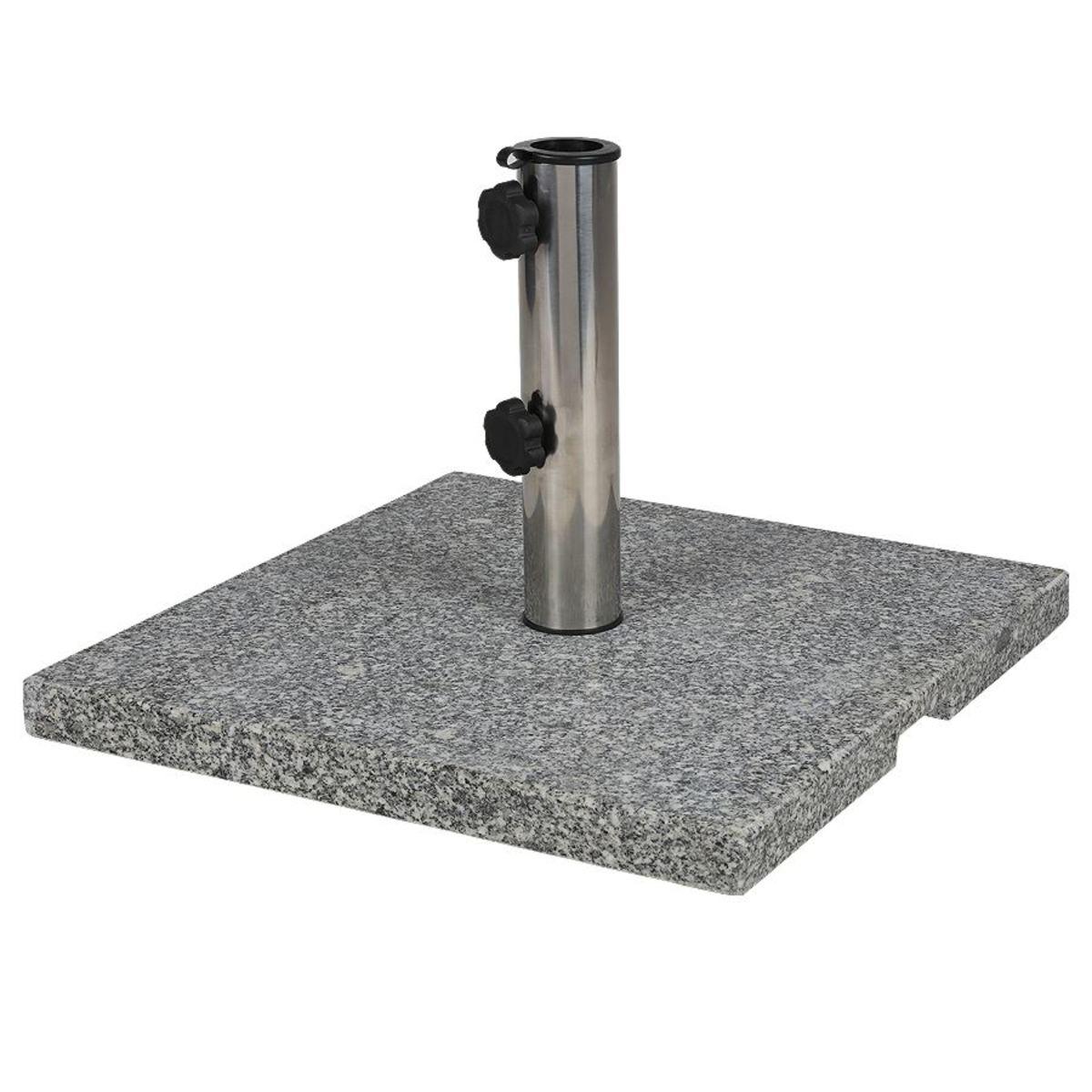 Bild 4 von Granit-Sonnenschirmständer eckig 20kg, poliertes Granit, Gewicht: 20kg