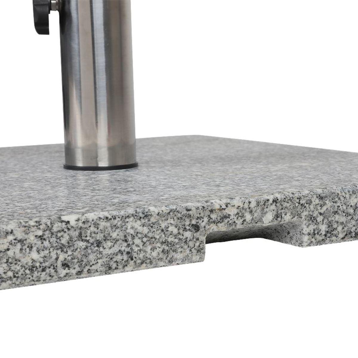 Bild 5 von Granit-Sonnenschirmständer eckig 20kg, poliertes Granit, Gewicht: 20kg