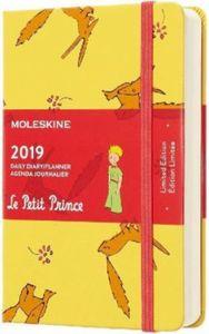 Moleskine Der Kleine Prinz 12 Monate Tageskalender 2019, P/A6, Hard Cover, Sonnenblumengelb