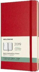 Moleskine 12 Monate Wochen Notizkalender 2019, L/A5, Hard Cover, Scharlachrot