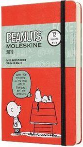Moleskine Peanuts 12 Monate Tageskalender 2019, L/A5, Hard Cover, Rot