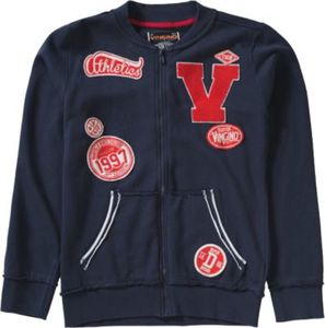 Sweatjacke mit Patches Gr. 164 Jungen Kinder