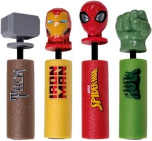Marvel Foam Shooter Wasserspritze, 4er Set