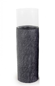 TrendLine Säule mit Glaswindlicht ,  22 x 74 cm