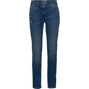 Gerry Weber Collection Damen Jeans mit Steinchen-Applikationen, jeansblau, 46