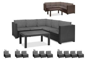 Keter Gartenmöbel Lounge Set Provence mit Tisch Premium