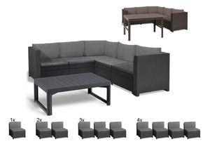 Keter Gartenmöbel Lounge Set Provence mit höhenverstellbarem Tisch Premium