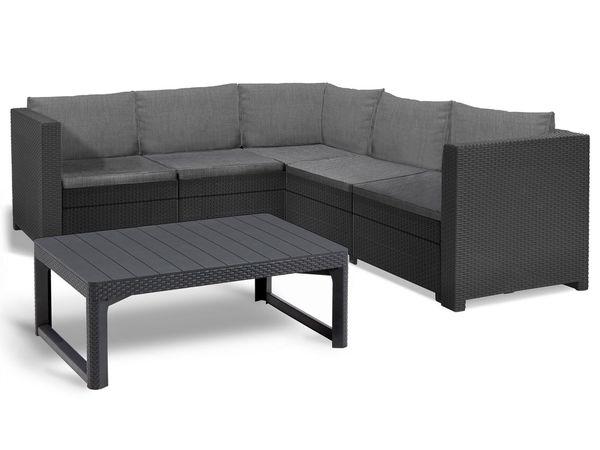 Keter Gartenmöbel Lounge Set Provence Mit Höhenverstellbarem Tisch