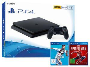 SONY Playstation 4 Slim 1TB inkl. FIFA 19 + Marvel´s Spider-Man