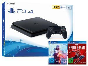 SONY Playstation 4 Slim 1TB inkl. Marvel´s Spider-Man + Battlefield V