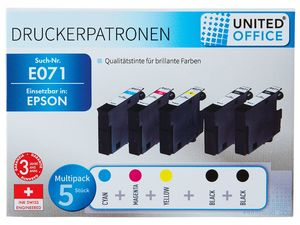 UNITED OFFICE® Druckerpatronen-Multipack