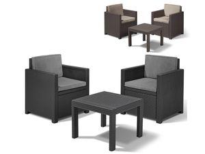 Allibert Balkonmöbel Lounge Set Victoria Premium