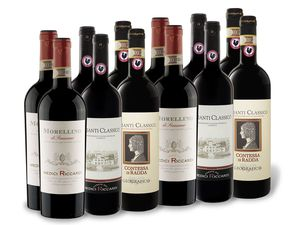 12 x 0,75-l-Flasche Weinpaket Italienische Rotweine II
