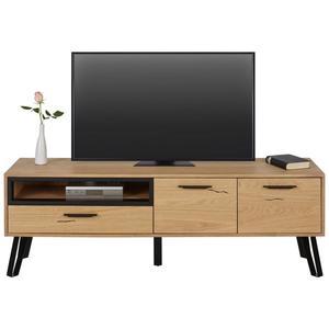TV-Element Schwarz/Eichefarben